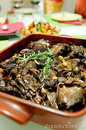 Rabbit stew with rosemary