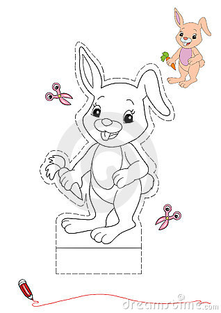 Rabbit to be color and to cut out