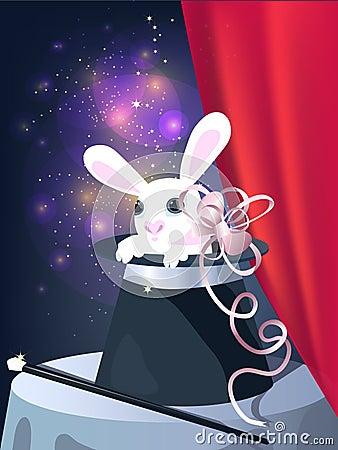 Rabbit in top hat