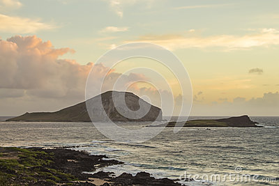 Rabbit and Turtle Island at sunrise