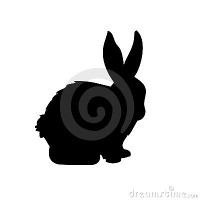 Free Rabbit Vector Silhouette Royalty Free Stock Image - 9716186