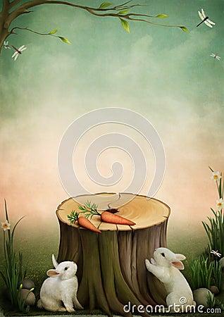 Free Rabbits And Carrots Royalty Free Stock Photo - 14235905