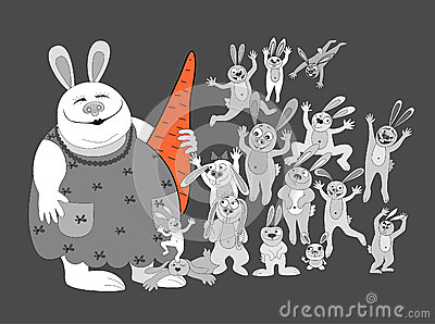Rabbits.big family