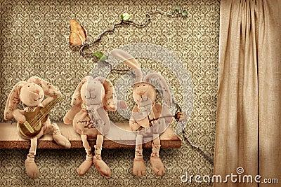 Rabbits trio