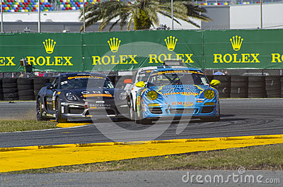 Race action collision of race cars at Daytona Speedway Florida Editorial Photography