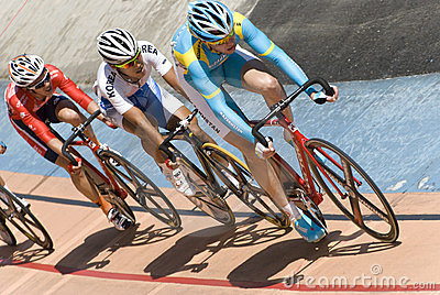 Race at Asian Cycling Championships 2012 Editorial Stock Image
