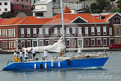 Race Boat Grenada Sailing Festival Editorial Image