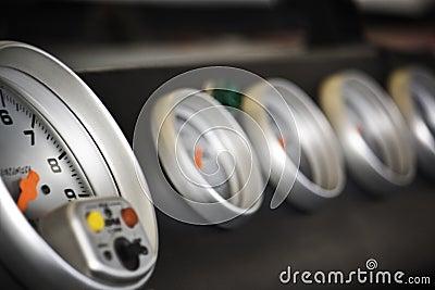 Race car dials