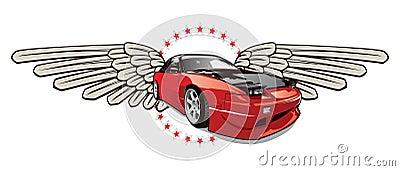 Race car emblem
