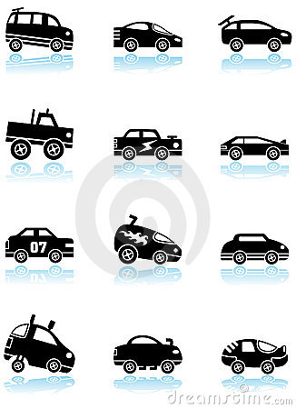 Car Icons On White   Race Car Icon