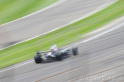 Race car motion blur
