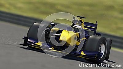 Race car on track