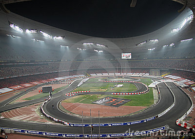 Race of Champions Beijing 2009 Editorial Image