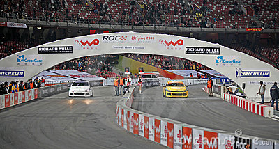Race of Champions Beijing 2009-Celebrity Challenge Editorial Stock Photo