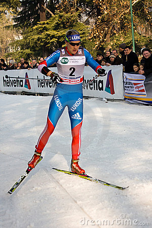 Race in the city, FIS Cross-Country World Cup Editorial Stock Image