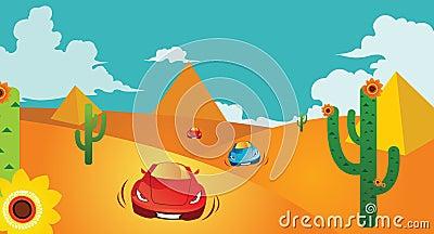 Race in desert