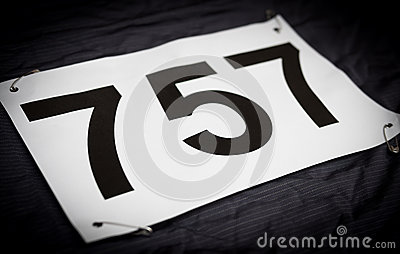 Race jersey number