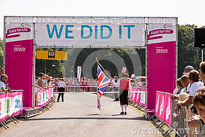 Race for Life Editorial Stock Photo