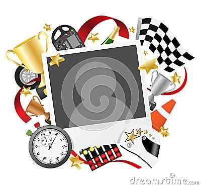 Race photo frame template