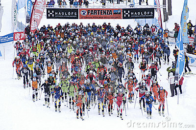 Race of ski touring Editorial Stock Photo