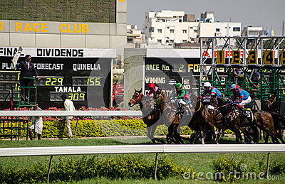 Race Start, Hyderabad Editorial Image