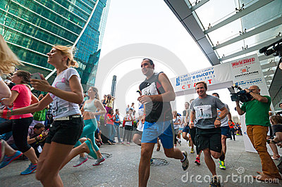 Race to the heigh Editorial Stock Image