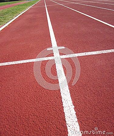 Race Track in Stadium