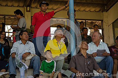 Racegoers, Chiang Mai, Thailand Editorial Photography