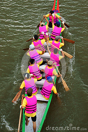 Racer at boat race Editorial Image