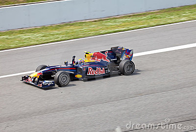 The racer of a of RBR-Renault on The Formula 1 Editorial Image