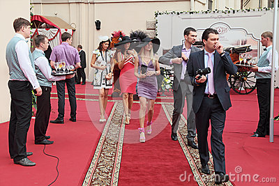 The races for the prize of the President of the RF Editorial Stock Image