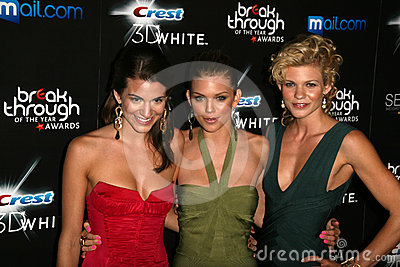 Rachel McCord, AnnaLynne McCord and Angel McCord at the Breakthrough Of The Year Awards,  Pacific Design Center, West Hollywood, C Editorial Stock Photo