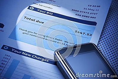 Rachunku telefon komórkowy