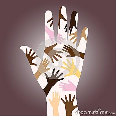 Racial diverse hands