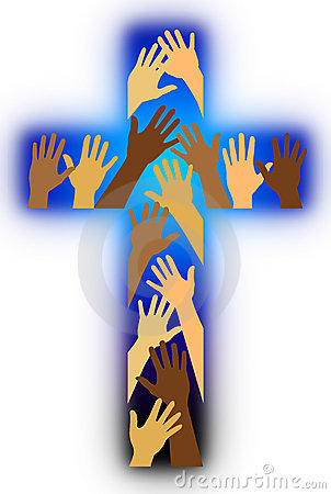 racial diversity cross royalty free stock image image