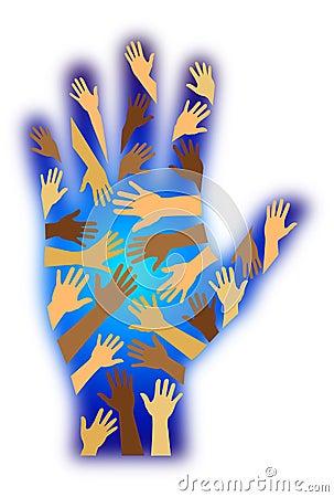 Racial Diversity Hand