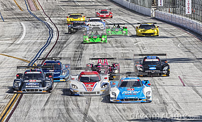 Racing:  Apr 12 TUDOR United SportsCar Championship of Long Beac Editorial Photo