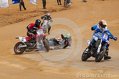Racing bike accident Editorial Photography