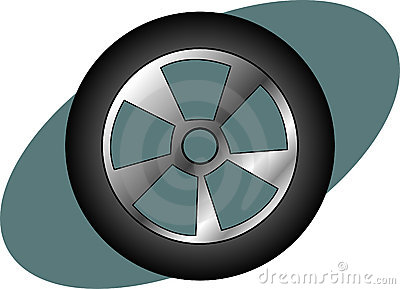 racing car, auto or truck tire. Vector available.