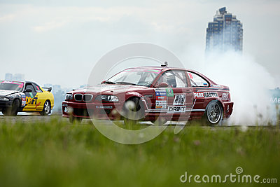 Racing car of Belenkiy in motion on the track Editorial Stock Image