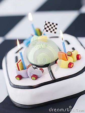 Free Racing Car Birthday Cake Stock Images - 5860984