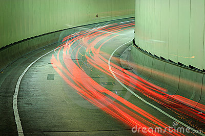 Racing car blurred background