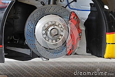 Racing car brake rotor