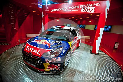 Racing car Sebastien Loeb Editorial Stock Image
