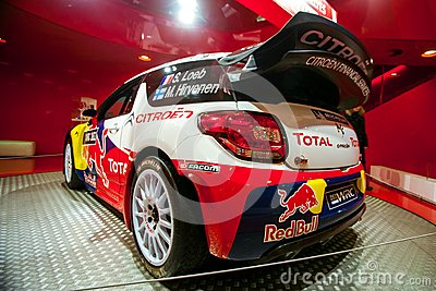 Racing car Sebastien Loeb Editorial Stock Photo