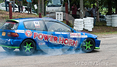 Racing car in srilanka Editorial Image