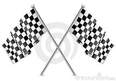 Racing Checkered Flags Finish