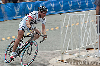 Racing cyclist Editorial Stock Image