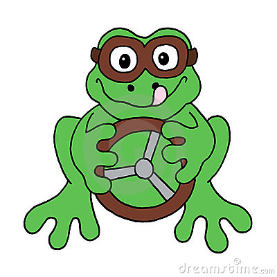 Racing driver frog