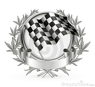 Auto Racing Trophy on Vector Illustration  Racing Emblem  Image  20164444
